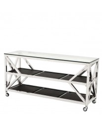 sitetable glas chrome